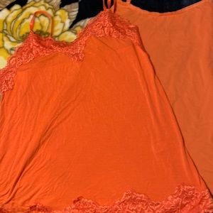 Two Lane Bryant Size 14/16 Orange Cami's